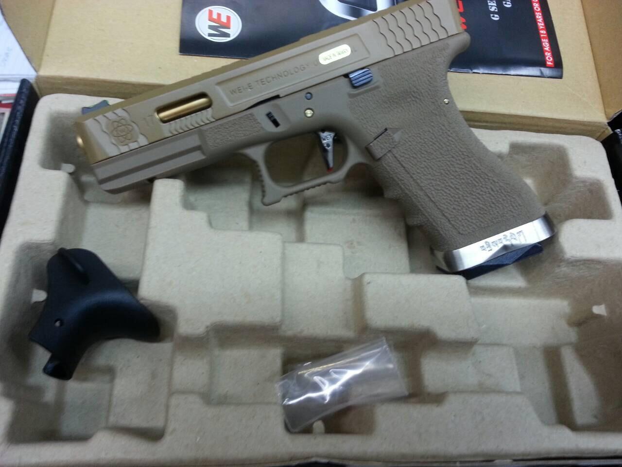 WE Glock17 T3 Gen4 สไลด์ทราย เฟรมทราย ท่อทอง ราคาพิเศษ